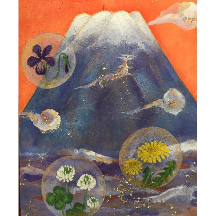 吉祥龍雲(春の草花)